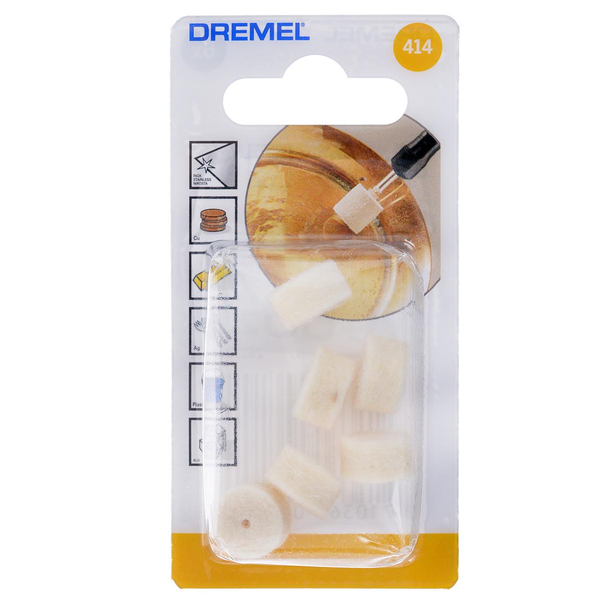 Набор полировальных насадок, 6 шт. Dremel 414 (2615041432)