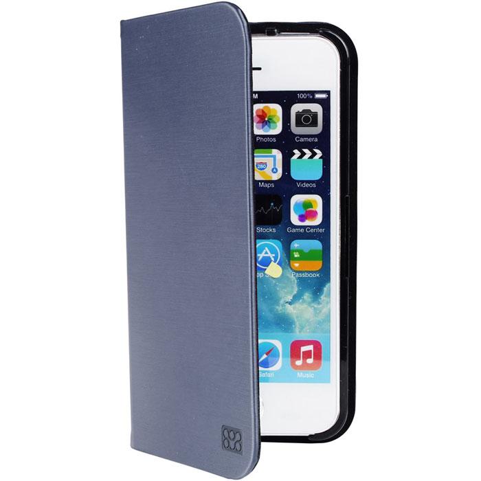 Promate Neat.i5 чехол для iPhone 5/5s, Blue00007874Promate Neat.i5 изготовлен из роскошной, качественно выделанной кожи и при этом обеспечивает надежную защиту от царапин и сколов вашего iPhone 5/5S. Чехол имеет функцию трансформации в подставку для горизонтального просмотра изображения на экране. Клипса для фиксации смартфона надежно удерживает iPhone за счет уникальности дизайна. Neat-i5 - стильный и функциональный защитник для iPhone 5/5S.