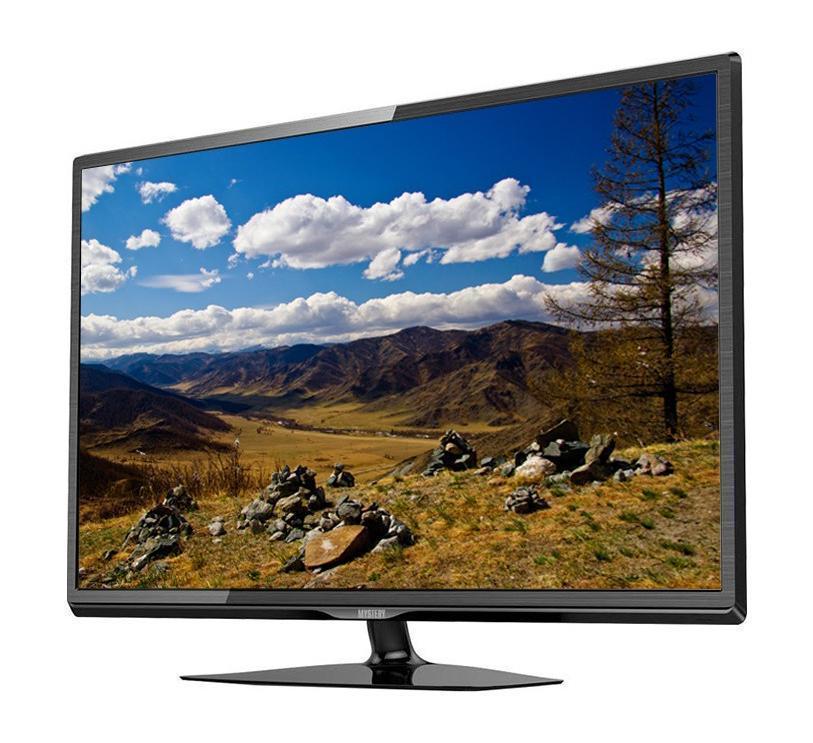 Mystery MTV-3228LT2 телевизор4897020614852Mystery MTV-3228LT2 – LED телевизор с подсветкой и диагональю 32 дюйма, который, несомненно, порадует своего обладателя отличным соотношением цены и качества. Матрица с разрешением 1366х768 дюймов и поддержкой HDTV 720р передает на экран яркое, четкое изображение высокой четкости. Яркость 250 кд/кв.м и 16, 7 млн цветов обеспечивает насыщенную и реалистичную цветовую палитру. Прогрессивная разверстка гарантирует высокую детализацию при просмотре динамичных сцен. Модель поддерживает все необходимые виды телесигналов, что избавит вас от помех на экране при просмотре телепередач и фильмов. Встроенная акустическая система представлена двумя динамиками мощностью 10 Вт каждый, обеспечивающими мощный и насыщенный стереозвук. Mystery MTV-3228LT2 оборудован всеми необходимыми разъемами и интерфейсами, позволяющими подключить к телевизору любые совместимые устройства. 2 HDMI и 1 USB вход обеспечивает воспроизведение на экране аудио и сжатых видеофайлов, а...