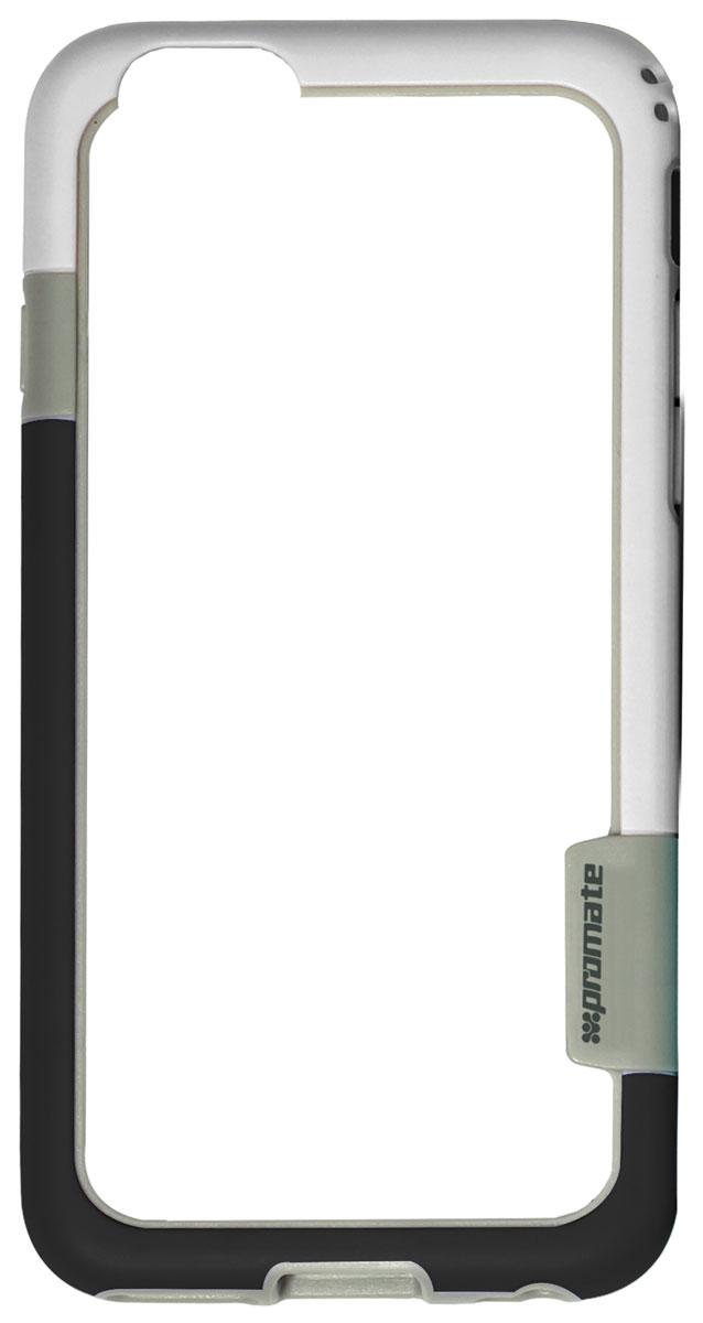 Promate Fendy-i6P чехол-накладка для iPhone 6 Plus, White00008333Fendy-i6P являет собой потрясающий пример минималистского подхода к экстраординарным методам защиты. Внешний край бампера красиво обрамляет контуры вашего нового iPhone 6 Plus. Точные технологические отверстия дают полный доступ ко всем кнопкам, портам и камерам, а мягкая прорезиненная основа вместе с серьезной оснасткой гарантируют исключительную защиту.