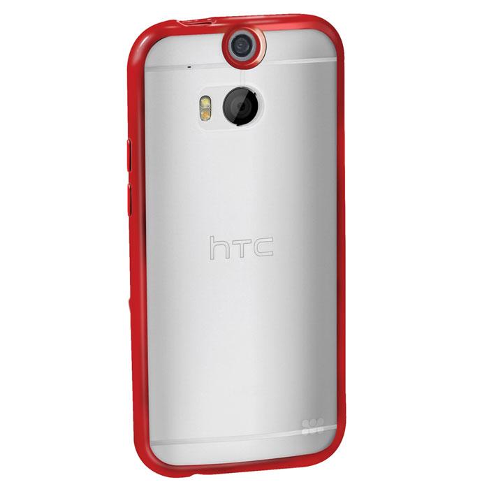 Promate Amos-M8 чехол-накладка для HTC One M8, Red00008003Promate Amos-M8 является новым аксессуаром для HTC One M8. Он идеально прилегает к корпусу и повторяет силуэт смартфона. Ультраэластичность Amos-M8 превосходно защищает телефон от царапин и потертостей. В данной накладке пересекаются практичность и дизайн. Доступность моделей в разных цветах позволяет менять стиль вашего HTC One M8 каждый день.