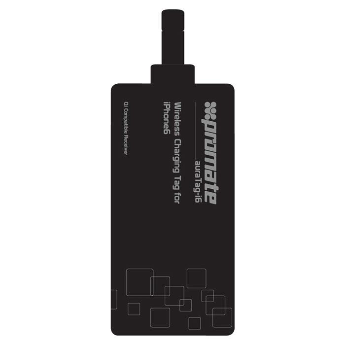 Promate auraTag-i6 беспроводное зарядное устройство00008405С помощью Promate auraTag-i6, зарядка вашего смартфона может стать по настоящему беспроводной. Подключите AuraTag-i6 к iPhone через разъем lightning. Сам приемник размещается на задней крышке смартфона, поверх можно одеть любимый чехол или накладку. Встроенный контроллер сделает зарядку быстрой и безопасной. Promate auraTag-i6 абсолютна универсален и совместим со всеми Qi зарядками.