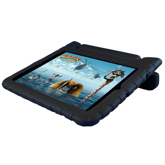 Promate Bamby.Air чехол для iPad Air 2, Black00008014Promate Bamby.Air специально сделан для детей, ведь его ударопрочный корпус, изготовленный из резинового силикона, и способен защитить планшетный компьютер от самых сильных потрясений. Ручка Bamby.Air подвижна и с легкостью превращает его в удобную вертикальную подставку для просмотра видео или чтения. Он изготовлен из безопасных нетоксичных материалов, имеет суперлегкий вес, и представлен в разной цветовой гамме. Пусть технологии в виде iPad Air 2 приходят в жизнь вашего ребенка защищенными Bamby.Air.