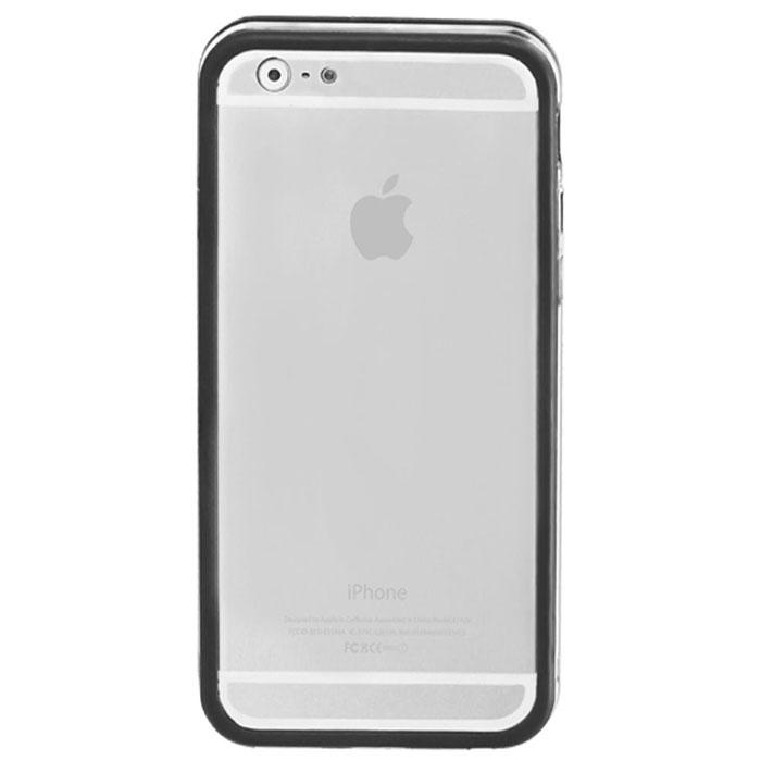 Promate Bump-i6 чехол-накладка для iPhone 6, Black00008237Promate Bump-i6 - потрясающий пример минималистского подхода к качественной защите. Внешний край бампера красиво обрамляет корпус iPhone 6. Ничего лишнего - только жесткая оснастка и прорезиненный бампер с ультра- мягким покрытием. Точные технологические вырезы обеспечивают полный доступ ко всем кнопкам и разъемам.