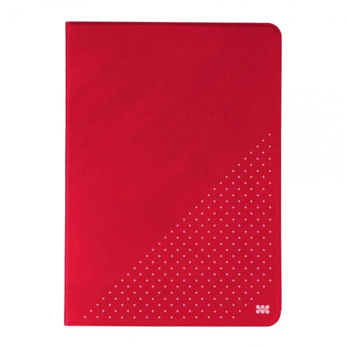 Promate Dotti чехол для iPad Air 2, Red00008023Promate Dotti - это удобный и функциональный чехол, который защитит ваш iPad Air 2 от случайных ударов, падений, потертостей и царапин. Специальные захваты надежно фиксируют планшет внутри чехла, при этом, не ограничивая доступ ко всем его портам, камерам и переключателям. Крышка чехла может трансформироваться в опору, превращая его в подставку для горизонтального просмотра содержимого на экране. Материалом отделки с внутренней стороны является мягкая микрофибра, надежно защищающая экран и корпус устройства от потертостей и царапин.