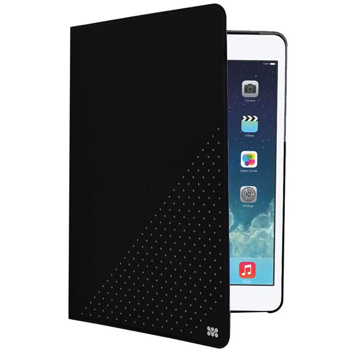 Promate Dotti-mini чехол для iPad mini, Black00008055Promate Dotti-mini - это удобный и функциональный чехол, который защитит ваш iPad mini от случайных ударов, падений, потертостей и царапин. Специальные захваты надежно фиксируют планшет внутри чехла, при этом, не ограничивая доступ ко всем его портам, камерам и переключателям. Крышка чехла может трансформироваться в опору, превращая его в подставку для горизонтального просмотра содержимого на экране. Материалом отделки с внутренней стороны является мягкая микрофибра, надежно защищающая экран и корпус устройства от потертостей и царапин.