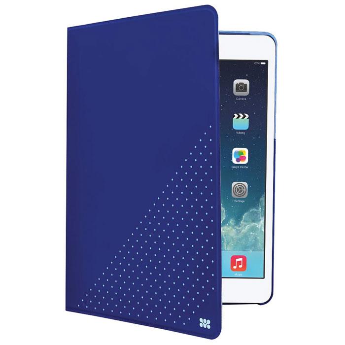 Promate Dotti-mini чехол для iPad mini, Blue00008054Promate Dotti-mini - это удобный и функциональный чехол, который защитит ваш iPad mini от случайных ударов, падений, потертостей и царапин. Специальные захваты надежно фиксируют планшет внутри чехла, при этом, не ограничивая доступ ко всем его портам, камерам и переключателям. Крышка чехла может трансформироваться в опору, превращая его в подставку для горизонтального просмотра содержимого на экране. Материалом отделки с внутренней стороны является мягкая микрофибра, надежно защищающая экран и корпус устройства от потертостей и царапин.