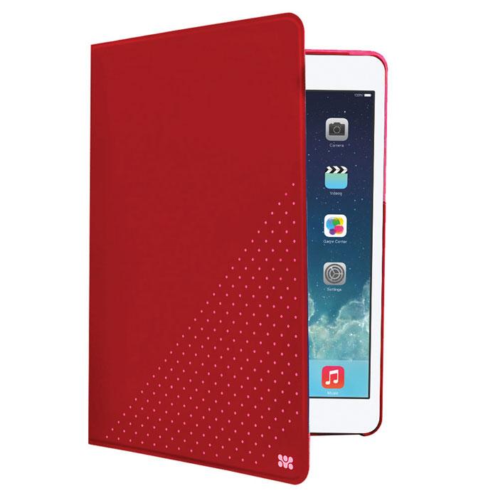 Promate Dotti-mini чехол для iPad mini, Red00008056Promate Dotti-mini - это удобный и функциональный чехол, который защитит ваш iPad mini от случайных ударов, падений, потертостей и царапин. Специальные захваты надежно фиксируют планшет внутри чехла, при этом, не ограничивая доступ ко всем его портам, камерам и переключателям. Крышка чехла может трансформироваться в опору, превращая его в подставку для горизонтального просмотра содержимого на экране. Материалом отделки с внутренней стороны является мягкая микрофибра, надежно защищающая экран и корпус устройства от потертостей и царапин.