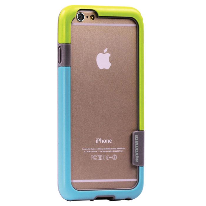 Promate Fendy-i6 чехол-накладка для iPhone 6, Green00008326Promate Fendy-i6 являет собой потрясающий пример минималистского подхода к экстраординарным методам защиты. Внешний край бампера красиво обрамляет контуры вашего нового iPhone 6. Точные технологические отверстия дают полный доступ ко всем кнопкам, портам и камерам, а мягкая прорезиненная основа вместе с серьезной оснасткой гарантируют исключительную защиту.