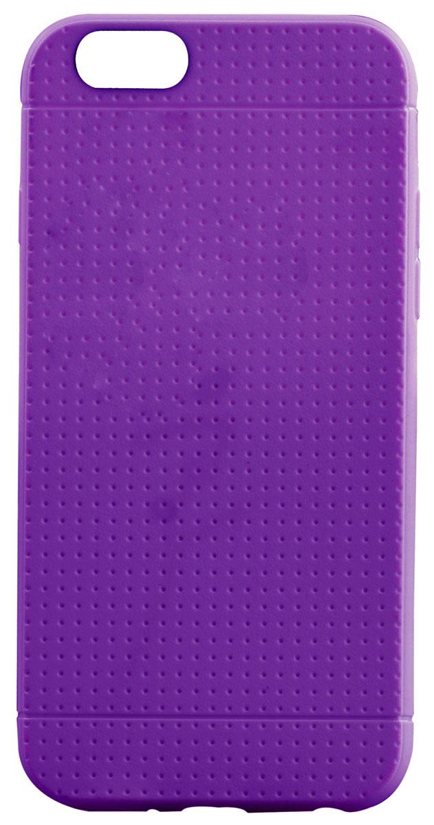 Promate Flexi-i6P чехол-накладка для iPhone 6 Plus, Purple00008337Promate Flexi-i6P - чехол премиум класса для iPhone 6. Очень стильный и надежный. Плотно прилегает к корпусу iPhone6, обеспечивая полную защиту от сколов и царапин и свободный доступ по всем кнопкам и портам.