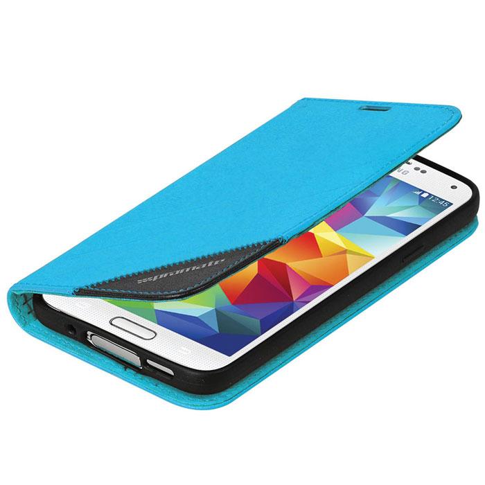 Promate Folio-S5 чехол для Samsung Galaxy S5, Blue