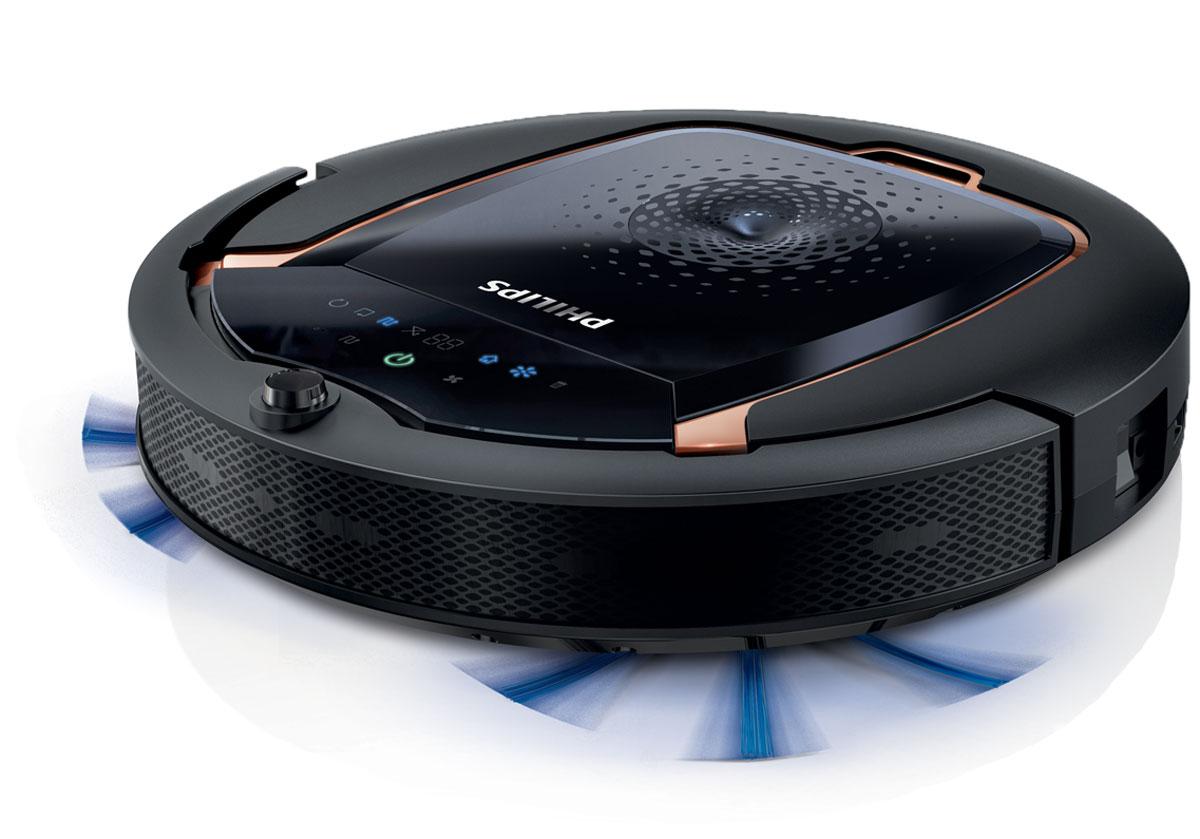 Philips FC8820/01 робот-пылесосFC8820/01Philips FC8820/01 - это робот-пылесос, который выполняет уборку за вас. Благодаря системе Smart Detection робот-пылесос выбирает оптимальный режим для тщательной уборки дома. Система Smart Detection Новый робот-пылесос оснащен системой Smart Detection, которая представляет собой набор из интеллектуальных датчиков (до 22 шт.), гироскопа и акселерометра, что позволяет устройству самостоятельно выполнять уборку. Робот анализирует обстановку и выбирает оптимальный режим для максимально быстрой уборки. Робот- пылесос не застревает на месте и возвращается на док-станцию, когда это необходимо. ИК-датчики для обнаружения и объезда препятствий Philips FC8820/01 оснащен шестью ИК-датчиками, которые отслеживают препятствия, например стены, осветительные приборы и кабели. Это позволяет прибору объехать препятствия и в то же время провести тщательную очистку напольного покрытия. Наконец вы можете наслаждаться чистым домом без вашего ...