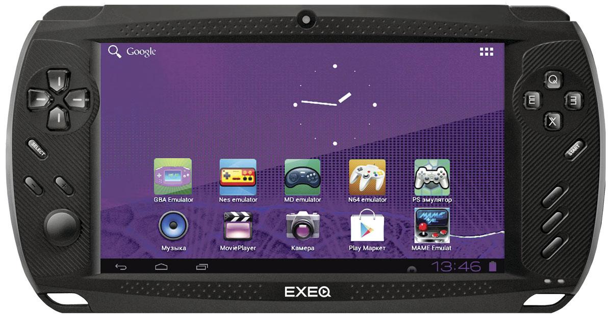 Игровая консоль EXEQ Get 7 (Android), BlackMP-1023Exeq Get - портативный медиацентр с операционной системой OS Android 4.0, удачно сочетающий в себе возможности игровой приставки и планшетного компьютера! Мощный процессор, 7-ми дюймовый экран, поддерживающий до 5 прикосновений мультитач, удобное расположение цифровых кнопок и аналоговых стиков – все эти возможности позволят пользователям Exeq Get c радостью и непревзойденным удобством проводить время за множеством различных видеоигр. Консоль поддерживает практически все игровые форматы: от Dendy, GBA до Nintendo 64 и Playstation. Кроме видеоигр медиацентр располагает самыми широкими мультимедийными возможностями: просмотр видео форматов Ultra Hd, прослушивание музыкальных композиций с повышенным качеством, комфорт при чтении электронных книг и документов. Exeq Get может стать отличной приобретением для всех пользователей, которым необходимы супер возможности за довольно скромную цену! Уникальный дизайн. Exeq Get – портативный медиацентр, с...