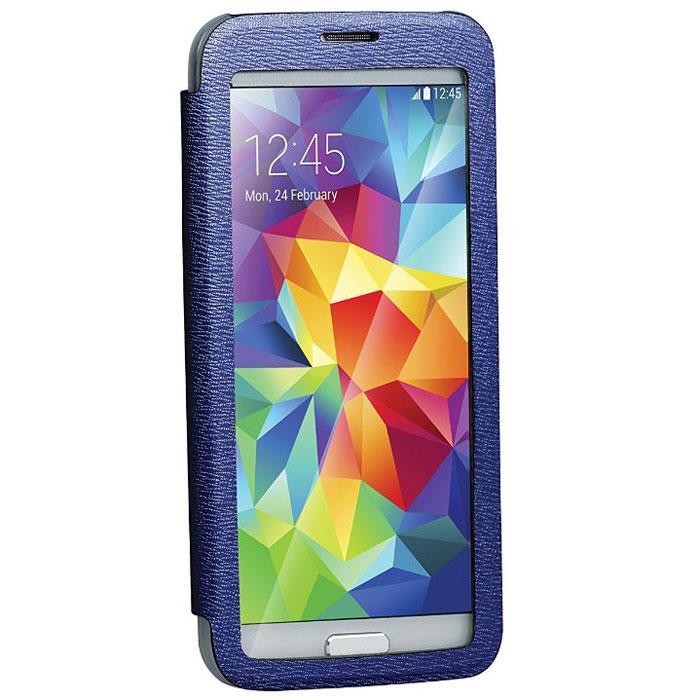 Promate Lucent-S5 чехол для Samsung Galaxy S5, Dark Blue00007911Promate Lucent-S5 - симпатичный стильный чехол с прозрачной флип-крышкой, которая позволяет наблюдать за экраном вашего Samsung Galaxy S5, при этом защищая смартфон от царапин и потертостей. Его дизайн специально разработан для Galaxy S5, что гарантирует максимально плотное прилегание смартфона к чехлу, при это обеспечивая полный доступ ко всем портам и кнопкам управления.