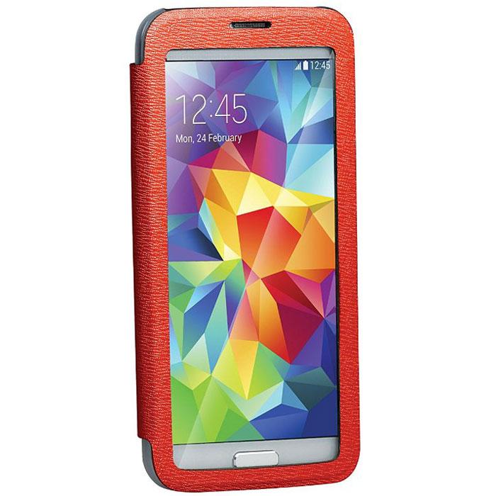 Promate Lucent-S5 чехол для Samsung Galaxy S5, Red00007910Promate Lucent-S5 - симпатичный стильный чехол с прозрачной флип-крышкой, которая позволяет наблюдать за экраном вашего Samsung Galaxy S5, при этом защищая смартфон от царапин и потертостей. Его дизайн специально разработан для Galaxy S5, что гарантирует максимально плотное прилегание смартфона к чехлу, при это обеспечивая полный доступ ко всем портам и кнопкам управления.