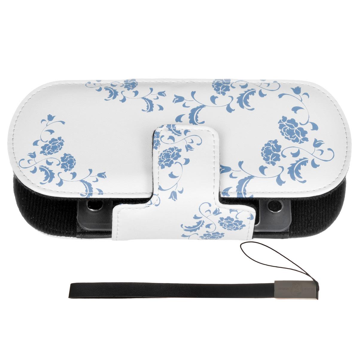 Защитный чехол Free-Style Black Horns для Sony PSP 2000/3000 (N01 Узор бело-голубой)BH-PSP02208(R)Защитный чехол Free-Style Black Horns для Sony PSP 2000/3000 обеспечит сохранность вашей игровой приставки. Оригинальный графический дизайн Free-Style - совершенное сочетание инноваций и традиционного подхода, эффектно подчеркнет вашу индивидуальность. Внутренняя поверхность чехла для PSP выполнена из мягкого текстиля, не царапающего лицевую панель PSP. Специально разработанная для PSP 2000/3000 система внутренних креплений защитит Вашу консоль от потертостей, повреждений и падений. Система внутренних креплений позволяет открыть/закрыть UMD-привод не вынимая приставку из чехла. Специальные крепления внутри чехла надежно фиксируют PSP, обеспечивая свободный доступ ко всем кнопкам управления, USB-порту, Wi-Fi и UMD-приводу. Чехол можно использовать в качестве подставки при просмотре фильмов, картинок или при прослушивании музыки. На задней части чехла расположены два кармашка под карточки памяти. Чехол оснащен удобной и надежной магнитной застежкой, а также стильным и практичным...
