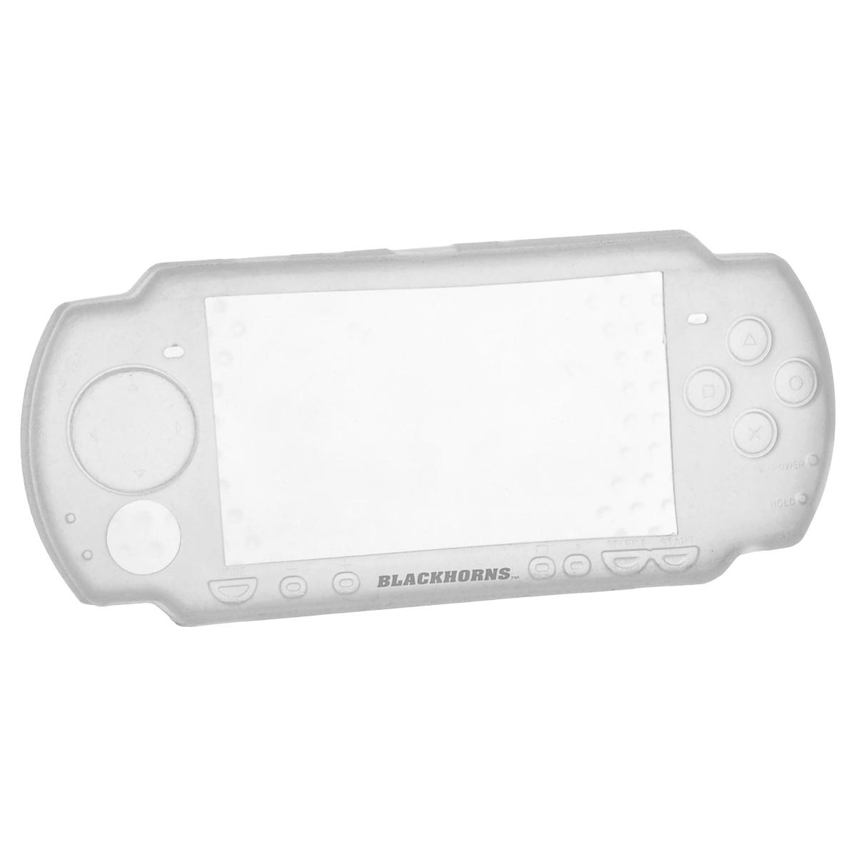 Набор аксессуаров с силиконовым чехлом 3 в 1 для Sony PSP Slim & Lite (белый)