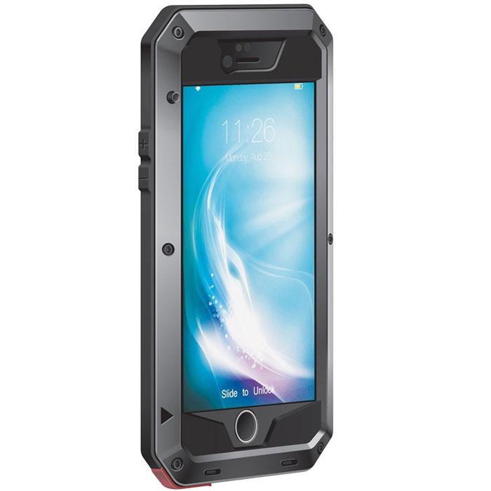 Promate Superior-i6 чехол для iPhone 6, Black00008412Promate Superior-i6 - легкий, но одновременно жесткий и супер прочный чехол для вашего iPhone 6. Он обеспечит беспрецедентную защиту для вашего смартфона. Promate Superior-i6 поставляется с ударопрочным стеклом Corning Gorilla Glass Screen Protector, экран будет недосягаем для царапин сколов трещин и потертостей. При этом чуткость сенсорного экрана ни чуть не страдает. Чехол не только брутален снаружи, он так же физически обладает повышенной ударостойкостью и устойчивостью к истиранию. Promate Superior-i6 - еще ни когда ваш смартфон не был так защищен. Защитный чехол с жесткостью гвоздя Надежная защита экрана от погодных условий, ударов, падений и прочего Идеальная совместимость с сенсорным экраном Ударо-амортизирующий корпус Износостойкая поверхность Совместим с функцией Touch ID (идентификация по отпечатку пальца) Запасные монтажные винты в комплекте Легкий доступ ко всем портам и кнопкам управления