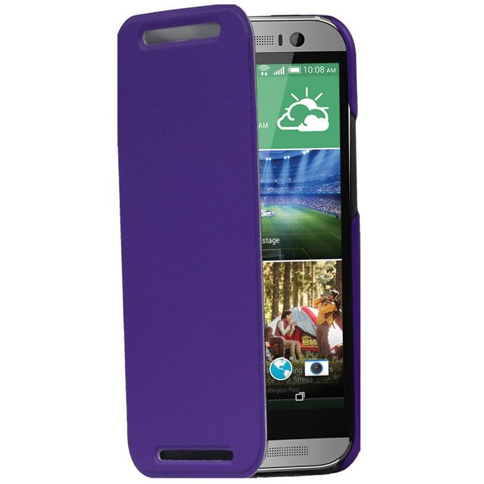 Promate Tama-M8 чехол для HTC One M8, Purple00008010Дизайнеры Promate Tama-M8 смогли создать по-настоящему многофункциональный и практичный чехол для HTC One M8. Складной дизайн чехла позволяет использовать его как горизонтальную подставку для смартфона. Разные цвета Promate Tama-M8 придадут вашему HTC One M8 индивидуальность. В комплект также входит защитная пленка на экран и чистящая салфетка.