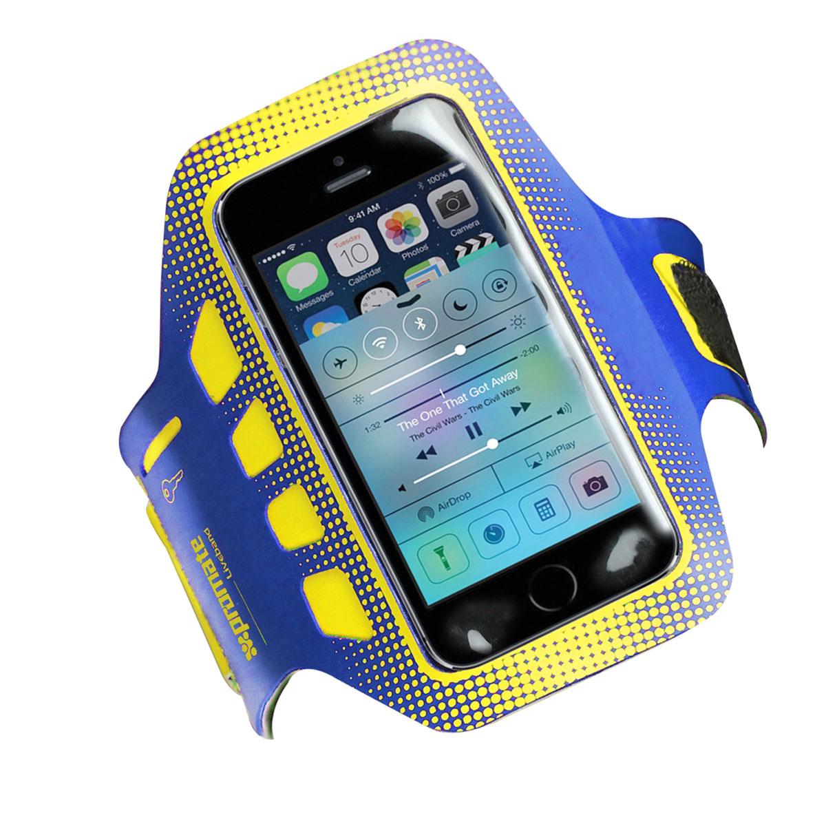 Promate Liveband чехол для iPhone 5/5s, Blue00007846Чехол Promate Liveband для iPhone 5/5s - аксессуар, который должен иметь каждый человек, кто занимается спортом, вне зависимости, что это за вид спорта: гимнастика, бег, упражнения в зале и т.д. Этот удобный и очень легкий чехол предохранит ваш смартфон от любого вида повреждений, падений, ударов, царапин, пота и капель воды. Liveband сделан из легковесного материала и крепится на любое предплечье, как широкое, так и узкое. А это значит, что ваши руки всегда будут свободными, а телефон - доступным. Чехол также оснащен специальным кармашком для ключей. Идите и занимайтесь спортом с вашим Liveband!