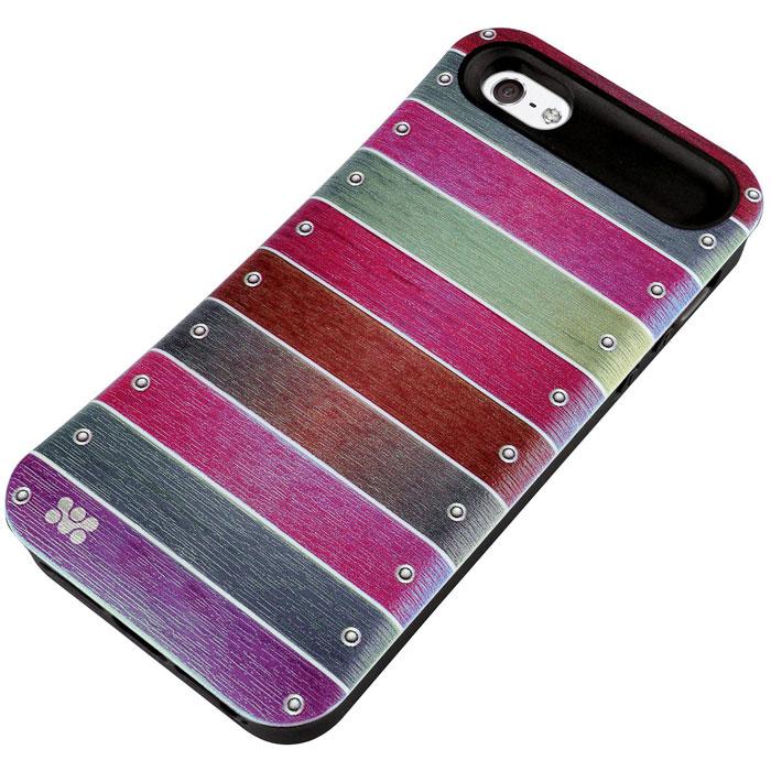 Promate Slab.i5 чехол-накладка для iPhone 5/5s, Pink00007872Promate Slab.i5 - это возможность заявить о своем стиле через ваш iPhone. Сочетание дизайнерской роскоши и максимальная защита дорого устройства - лейтмотив создания этого чехла. Скрытый карман позволяет хранить мелкие деньги, кредитные карты, абонементы и т.д.