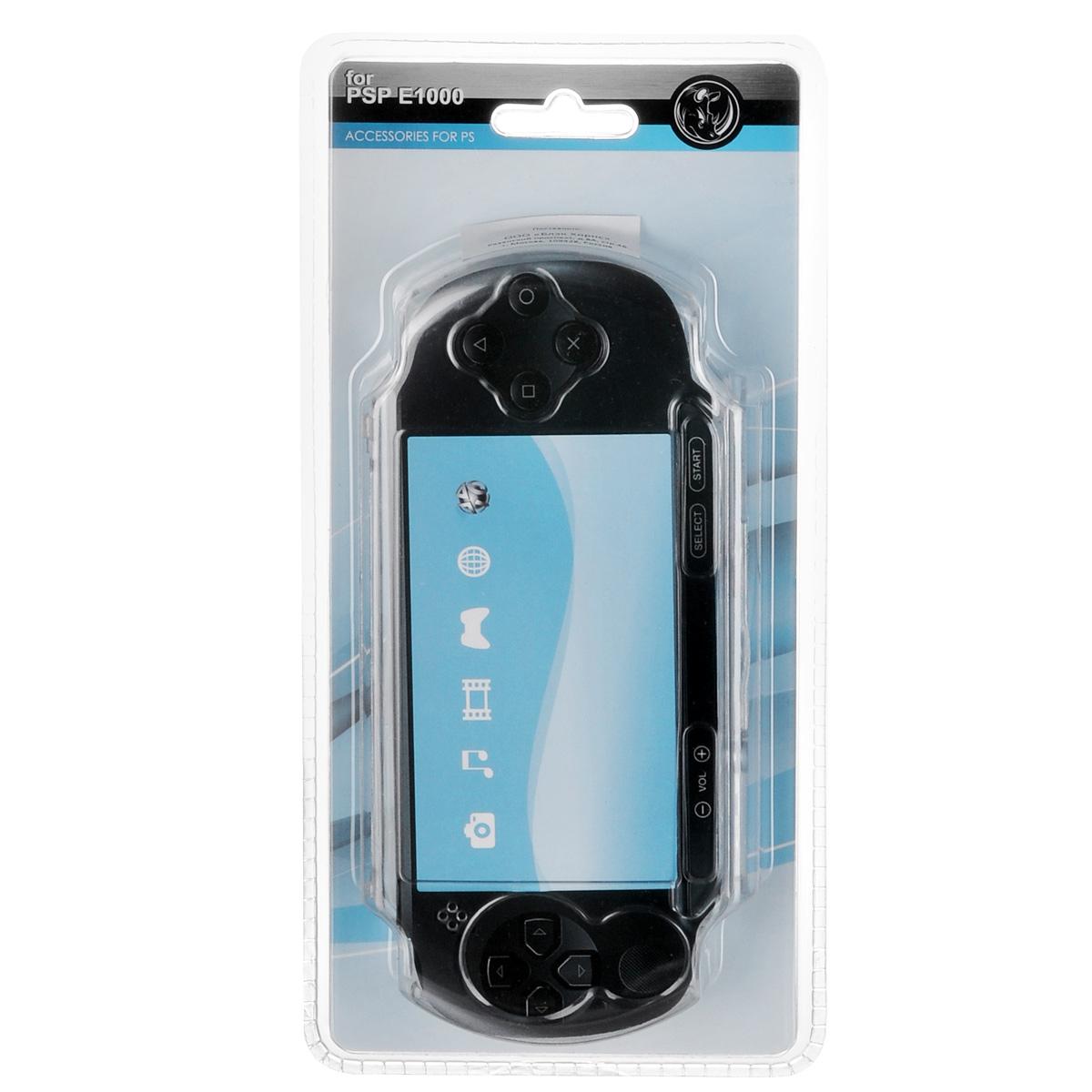 Защитный чехол Black Horns для Sony PSP E1000 (прозрачный)BH-PSE0203(R)Защитный чехол Black Horns для Sony PSP E1000 - стильная и надежная защита из высококачественного материала. Чехол надежно защитит вашу приставку от внешних воздействий, грязи, царапин и потертостей. Чехол легко надевается и снимается, совместим со всеми версиями консоли Sony PSP E1000. Легкий доступ ко всем портам и кнопкам позволяет использовать консоль не снимая чехол.