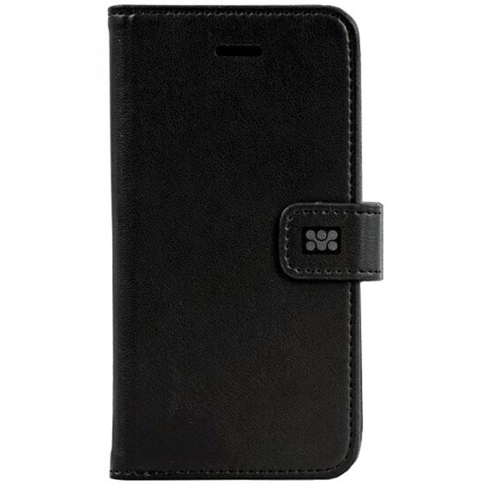 Promate Tava-i6 чехол для iPhone 6, Black00008208Promate Tava-i6 - уникальный кожаный чехол, разработанный именно для iPhone 6. Помимо качественной защиты вашего смартфона он обладает рядом приятных дополнительных опций, таких как: подставка для просмотра информации на телефоне (в горизонтальной плоскости) и удобное внутреннее отделение для карт. Удобная магнитная защелка прекрасно защищает экран, когда телефон не используется. Выбор практичных и рациональных людей!