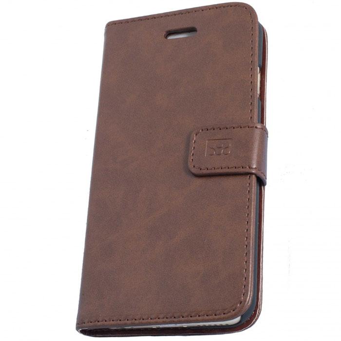 Promate Tava-i6 чехол для iPhone 6, Brown00008212Promate Tava-i6 - уникальный кожаный чехол, разработанный именно для iPhone 6. Помимо качественной защиты вашего смартфона он обладает рядом приятных дополнительных опций, таких как: подставка для просмотра информации на телефоне (в горизонтальной плоскости) и удобное внутреннее отделение для карт. Удобная магнитная защелка прекрасно защищает экран, когда телефон не используется. Выбор практичных и рациональных людей!