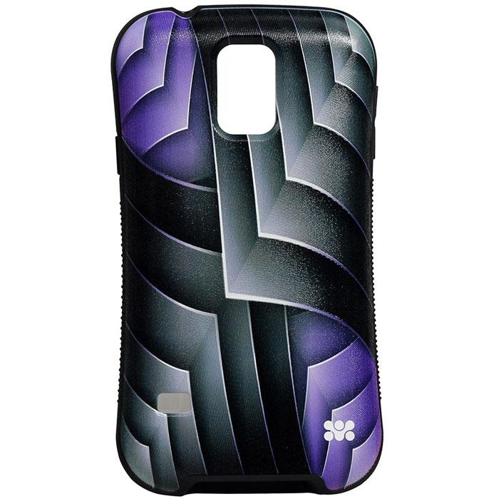 Promate Rash-S5 чехол-накладка для Samsung Galaxy S5, Purple00007932Promate Rash-S5 - это художественно оформленная накладка для Samsung Galaxy S5, которая притягивает внимание своим ярким, вызывающим и современным дизайном. Корпус накладки выполнен из термопластичного полиуретана и с нанесенным на него сюрреалистичным рисунком обеспечивает надежную защиту от ударов и сколов при случайных падениях. В Promate Rash-S5 предусмотрен скрытый карман для хранения кредитный карт, проездных, визиток и пр, а художественно оформленная поверхность добавляет изысканности вашему смартфону.