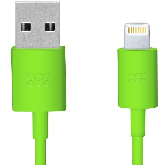 Promate linkMate.LT, Green кабель USB00007832Promate linkMate.LT является сертифицированным по стандартам Apple MFI премиум соединительным кабелем длиной 1,2 метра, который предназначен для зарядки и синхронизации устройств последнего поколения от компании Apple. Подключается к стандартному USB порту Функция стабильной зарядки и бесперебойной синхронизации Сделано из ABS пластика и flexShield ПВХ с медным напылением