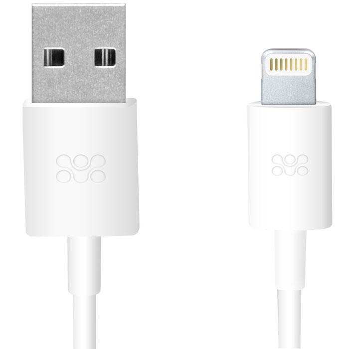 Promate linkMate-LT, White кабель USB00007831Promate linkMate.LT является сертифицированным по стандартам Apple MFI премиум соединительным кабелем длиной 1,2 метра, который предназначен для зарядки и синхронизации устройств последнего поколения от компании Apple. Подключается к стандартному USB порту Функция стабильной зарядки и бесперебойной синхронизации Сделано из ABS пластика и flexShield ПВХ с медным напылением