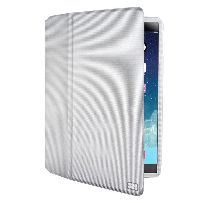 Promate Veil-Air чехол для iPad Air 2, White00007586Чехол Promate Veil-Air - изысканный кожаный защитный чехол с магнитным замком крышки для максимальной защиты вашего iPad Air 2 от случайных ударов, падений, потертостей и царапин. Изготовлен с использованием кожи премиум класса в элегантном книжном дизайне. Складная крышка позволяет использовать этот чехол как горизонтальную подставку для вашего планшетного компьютера, а внутренняя отделка из микрофибры защитит экран планшетника от потертостей. Veil.Air разработан специально для iPad Air 2, поэтому дизайн чехла обеспечивает легкий доступ ко всем портам, кнопкам управления и камерам. Чехол обладает интеллектуальной функцией авто-слип (включение/отключение вашего планшетного компьютера при открытии/закрытии крышки). Promate Veil.Air - изысканный защитник Вашего iPad Air 2.