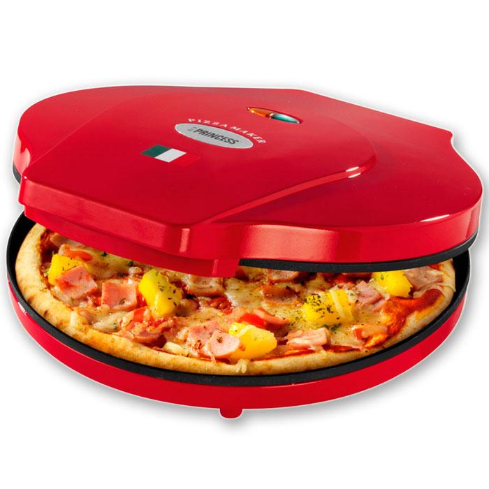 Princess 115000, Red пицца-мейкер115000Приготовьте дома отличную итальянскую пиццу вместе с Princess. Пицца-мейкер Princess 115000 поможет вам приготовить свежайшую пиццу диаметром до 30 см за считанные минуты. Оснащен световым индикатором питания. С антипригарным покрытием. Легко очищается. Идеален для любителей пиццы!