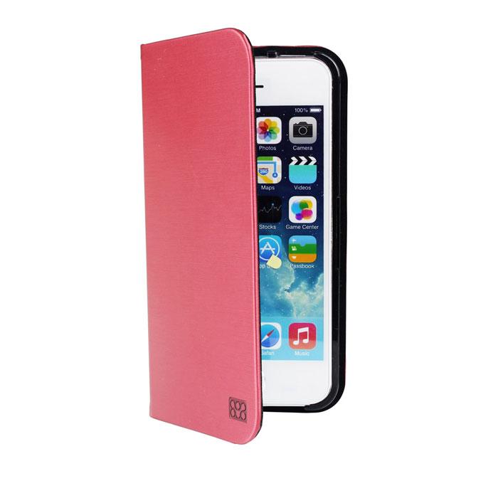 Promate Neat.i5 чехол для iPhone 5/5s, Maroon00007712Promate Neat.i5 изготовлен из роскошной, качественно выделанной кожи и при этом обеспечивает надежную защиту от царапин и сколов вашего iPhone 5/5S. Чехол имеет функцию трансформации в подставку для горизонтального просмотра изображения на экране. Клипса для фиксации смартфона надежно удерживает iPhone за счет уникальности дизайна. Neat-i5 - стильный и функциональный защитник для iPhone 5/5S.