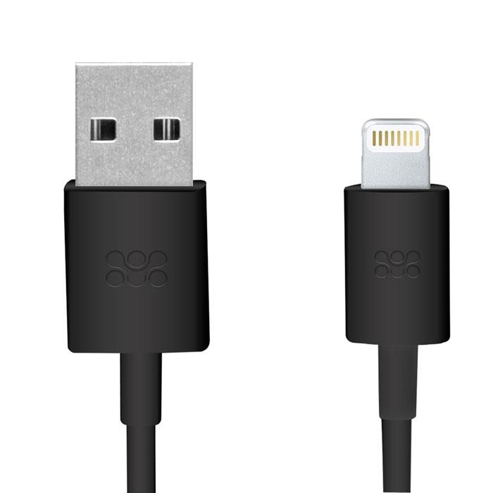 Promate linkMate-LT, Black кабель USB00007530Promate linkMate.LT является сертифицированным по стандартам Apple MFI премиум соединительным кабелем длиной 1,2 метра, который предназначен для зарядки и синхронизации устройств последнего поколения от компании Apple. Подключается к стандартному USB порту. Функция стабильной зарядки и бесперебойной синхронизации. Сделано из ABS пластика и flexShield ПВХ с медным напылением.