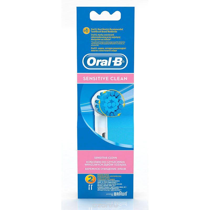 Oral-B EBS17 насадка для электрических зубных щеток Sensitive, 2 штEB17sОчень мягкие щетинки насадки Oral-B Sensitive EBS17 идеально подходят для бережной чистки чувствительных зубов и десен. Голубые щетинки, обесцвечиваясь наполовину, сигнализируют об износе щетины и напоминают о необходимости замены насадки. Подходит ко всем электрическим щеткам Oral-B.