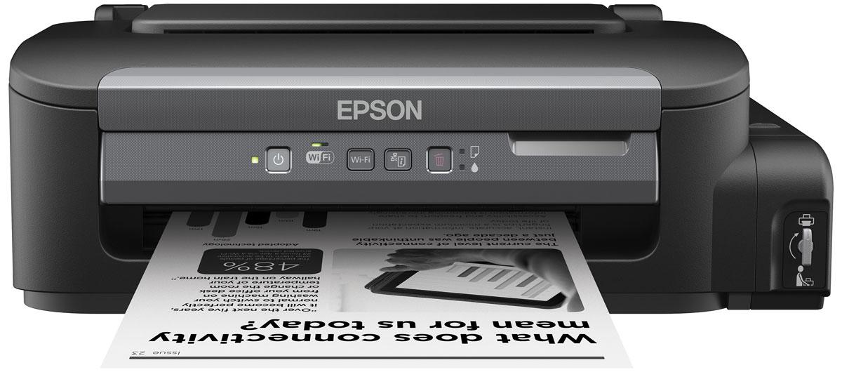 Epson M105 монохромный принтерC11CC85311Монохромный струйный принтер с рекордно низкой себестоимостью печати, пигментными чернилами и возможностью беспроводного соединения по Wi-Fi Монохромная Фабрика печати Epson М105 - это струйный принтер с большими емкостями для чернил объемом 140 мл, высокой скоростью печати и возможностью беспроводного соединения по Wi-Fi. Благодаря своей уникальной конструкции данное устройство дает возможность печатать документы с рекордно низкой себестоимость, а за счет использования пигментных чернил отпечатки мгновенно высыхают и не размазываться при попадании воды или механическом воздействии. Рекордно низкая себестоимость печати Благодаря большим емкостям и контейнерам с чернилами по 140 мл вы сможете напечатать большой объем документов по рекордно низкой цене: всего 15 копеек за документ формата А4 Два контейнера с чернилами по 140 мл в комплекте. В комплекте с устройством идет два контейнера с чернилами пигментными чернилами емкостью по...