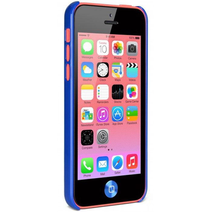 Cygnett Form чехол для iPhone 5c, BlueCY1251CPFORЗащитный чехол Cygnett Form для iPhone 5c идеально прилегает к устройству и оставляет открытым доступ к разъемам и элементам. Чехол надежно защищает смартфон от царапин, ударов, грязи и пыли.