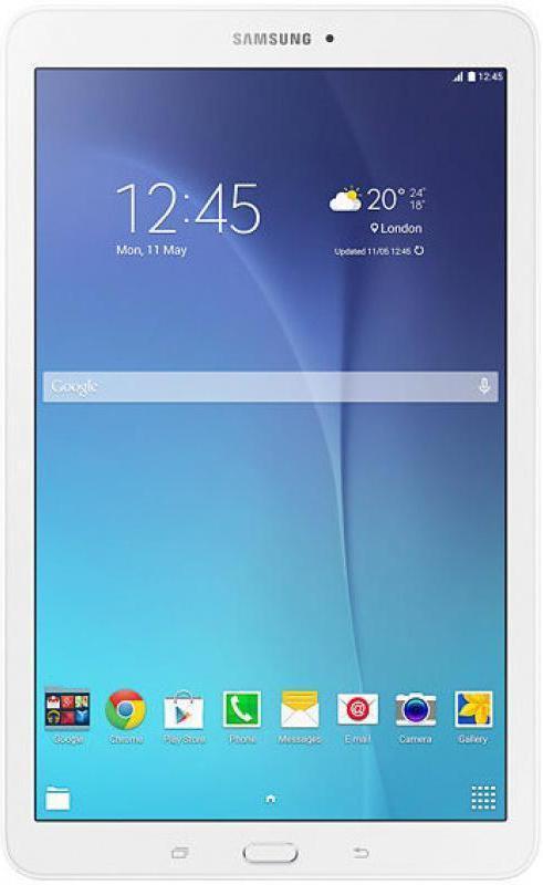 Samsung Galaxy Tab E SM-T561, WhiteSM-T561NZWASERSamsung SM-T561N Galaxy Tab E 9.6 - это планшетный компьютер с сенсорным экраном, на базе операционной системы Android . Данная модель обладает ярким и сочным 9.6-дюймовым дисплеем c поддержкой мультитач. С помощью камер на тыловой и задней стороне вы можете делать превосходные снимки, и делиться ими с друзьями через Wi-Fi или Bluetooth соединение. За начинку компьютера отвечает четырехядерный процессор с тактовой частотой 1300 МГц, оперативная память 1,5 гб и встроенная 8 гб. В сочетании с элегантным дизайном и мощностью устройства, вы без труда сможете делать все то, что хотели делать за планшетным компьютером. Просмотр фильмов, музыки или простой веб-серфинг, все это подвластно Samsung SM-T561N Galaxy Tab A 9.6. Данная модель обладает разъемом для microSD карт памяти, что навсегда позволит вам забыть о нехватке места на вашем планшете. Планшет сертифицирован Ростест и имеет русифицированный интерфейс, меню и Руководство пользователя.