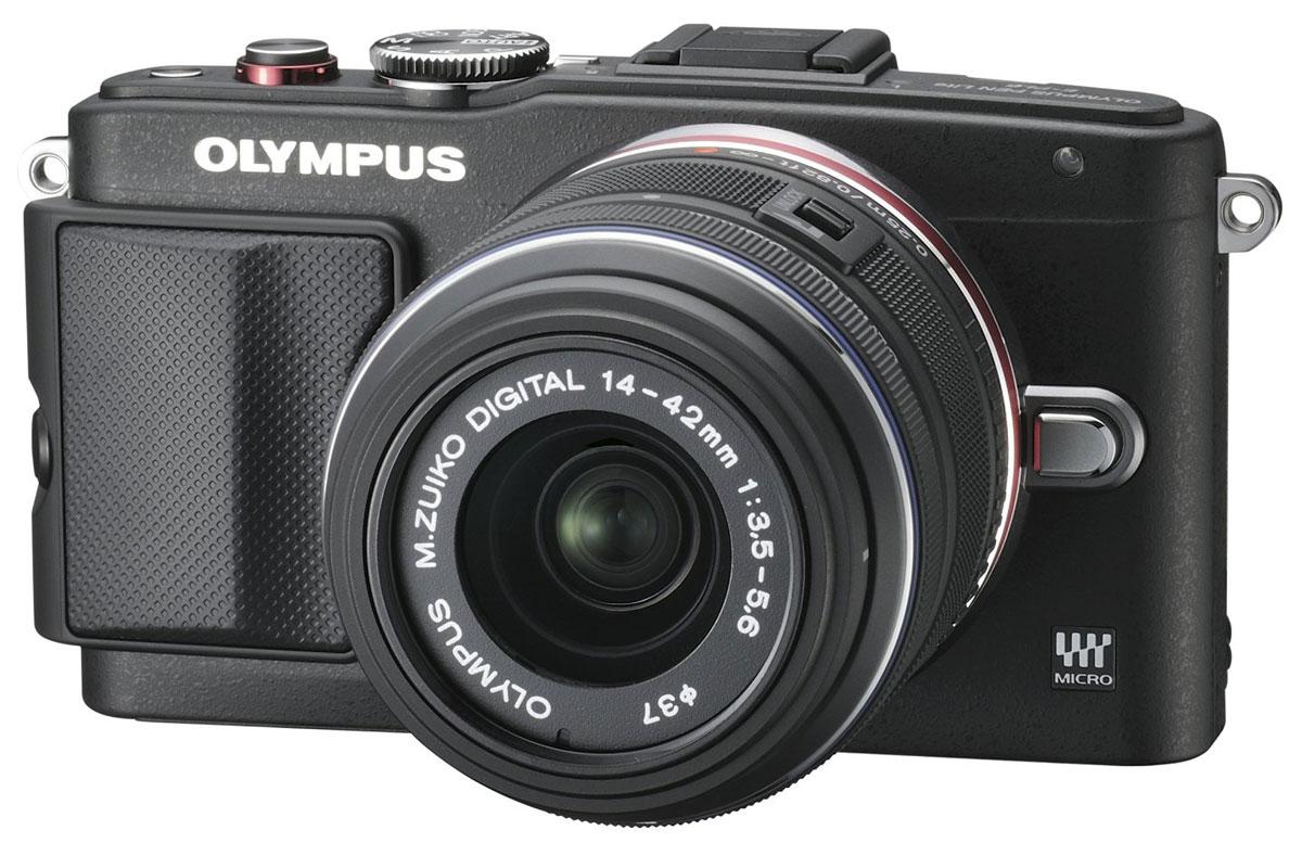 Olympus E-PL6 Kit EZ-M1442 II R, Black цифровая фотокамера ( V205051BE000 )