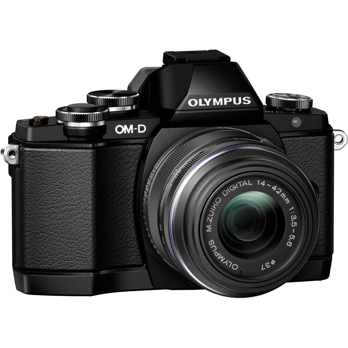Olympus OM-D E-M10 Kit EZ-M1442 II R, Black цифровая фотокамера
