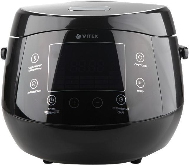 Vitek VT-4222(BK) мультиваркаVT-4222(ВК)Мультиварка VITEK 4222(BK) (Мощность 860 Вт, max объем 5 л., керам. покрытие внутр. чаши)