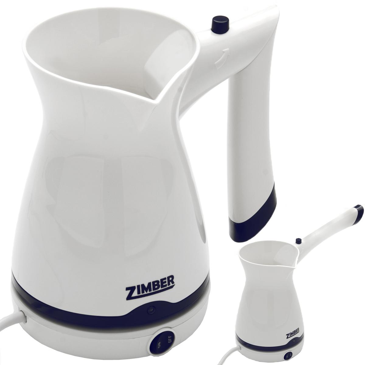 Zimber ZM-10866 кофеваркаZM-10866Электротурка Zimber ZM-10866 позволит вам приготовить вкусный натуральный кофе. Вы сможете заварить его в электрической турке-кофеварке. Нагревательный элемент сделан из высококачественной нержавеющей стали, которая не впитывает запахи и на ней не образуется темный налет. Настоящие ценители кофе обязательно оценят ароматный напиток, который они смогут приготовить своими руками.