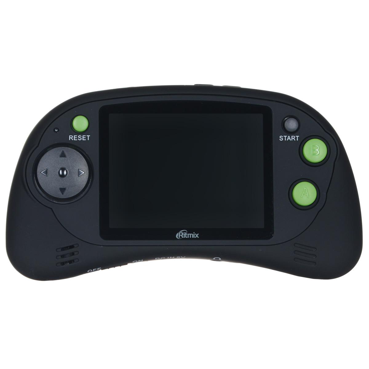 Портативная игровая приставка Ritmix RZX-20 (черная)15117693Ritmix RZX-20 - привлекательная многофункциональная консоль со 150 играми множества жанров! Представлены спортивные игры, стрелялки, леталки, бродилки и т.д. RZX-20 отличается удобной конструкцией с резиновым покрытием; устройство оснащено дисплеем высокого разрешения с диагональю 2,7 дюйма. USB разъём позволяет подключить консоль к обычной USB зарядке и навсегда избавиться от батареек! А выход на телевизор превращает портативную приставку в домашнюю. Игровая приставка рекомендована для детей от 6 лет. Питание: 3 x AAA, USB Разъемы: USB 2.0, AV, выход на наушники (jack 3.5 мм)