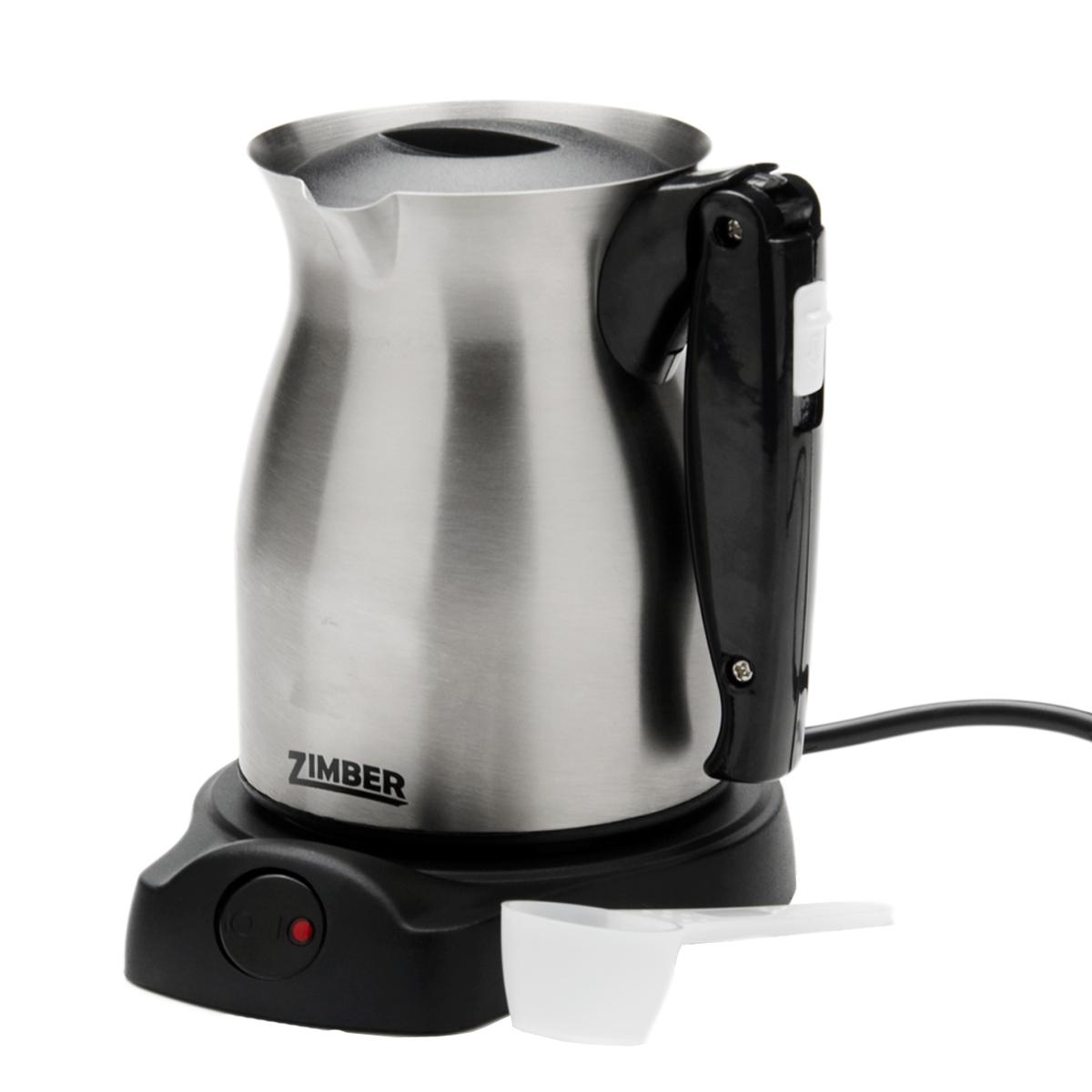 Zimber ZM-10934 кофеваркаZM-10934Электротурка Zimber ZM-10934 позволит вам приготовить вкусный натуральный кофе. Вы сможете заварить его в электрической турке-кофеварке. Нагревательный элемент сделан из высококачественной нержавеющей стали, которая не впитывает запахи и на ней не образуется темный налет. Настоящие ценители кофе обязательно оценят ароматный напиток, который они смогут приготовить своими руками.