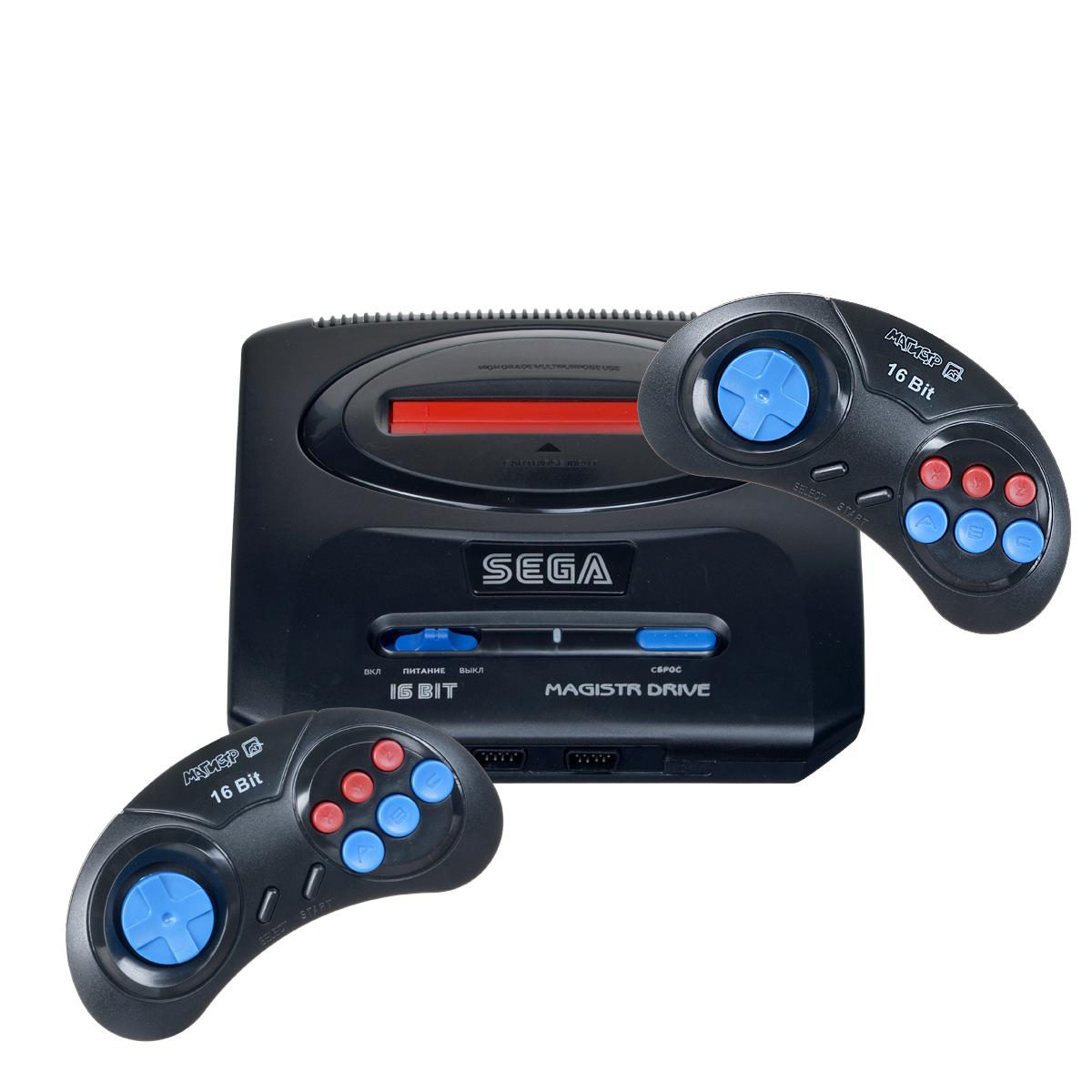 """Игровая приставка Sega Magistr Drive 2 160 игр4601250206165Sega Magistr Drive 2 160 игр — новая модель игровой 16-битной приставки от компании """"NewGame"""". В приставке успешно соединяется все, что необходимо для увлекательной игры — высокое качество исполнения, 160 встроенных игр, совместимость со стандартными картриджами 16 бит. Интересная игра найдется даже для самого взыскательного игрока. В вашем распоряжении будет большая библиотека игр различных жанров: приключения, гонки, леталки, боевики, файтинги, стратегии, логика и другие. Погрузитесь в многокрасочный и увлекательный мир видеоигр вместе с Sega Magistr Drive 2."""