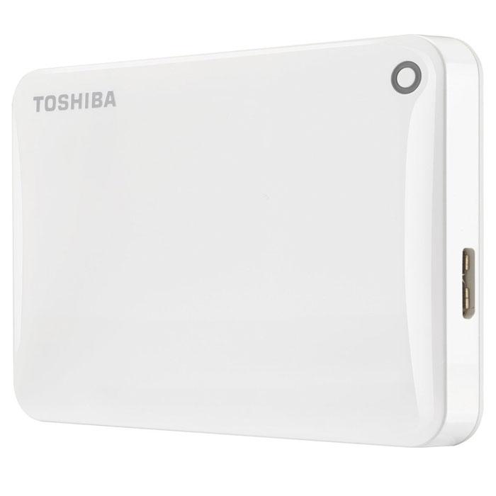 Toshiba Canvio Connect II 2TB, White внешний жесткий диск (HDTC820EW3CA)HDTC820EW3CAToshiba Canvio Connect II дает вам возможность быстро передавать файлы с интерфейсом USB 3.0 и хранить до 3 ТБ данных на внешнем жестком диске. Устройство полностью готово для работы с Microsoft Windows и не требует установки программного обеспечения, так что ничего не может быть удобнее для хранения всех ваших любимых файлов. В офисе или в дороге его классический дизайн будет всегда уместен. Более того, Toshiba Canvio Connect II позволяет подключаться также и к оборудованию с совместимостью USB 2.0. Этот внешний накопитель обеспечивает доступ к вашим файлам практически из любого места и с любого устройства. Toshiba Canvio Connect II может легко превратить ваш компьютер в облачный сервер благодаря предустановленному ПО для удаленного доступа (накопитель должен быть подключен к компьютеру и Wi-Fi). Помимо удаленного доступа это устройство предоставляет своему владельцу 10 ГБ дополнительного места в облачном сервисе. Программное обеспечение NTI Backup Now EZ обеспечивает...