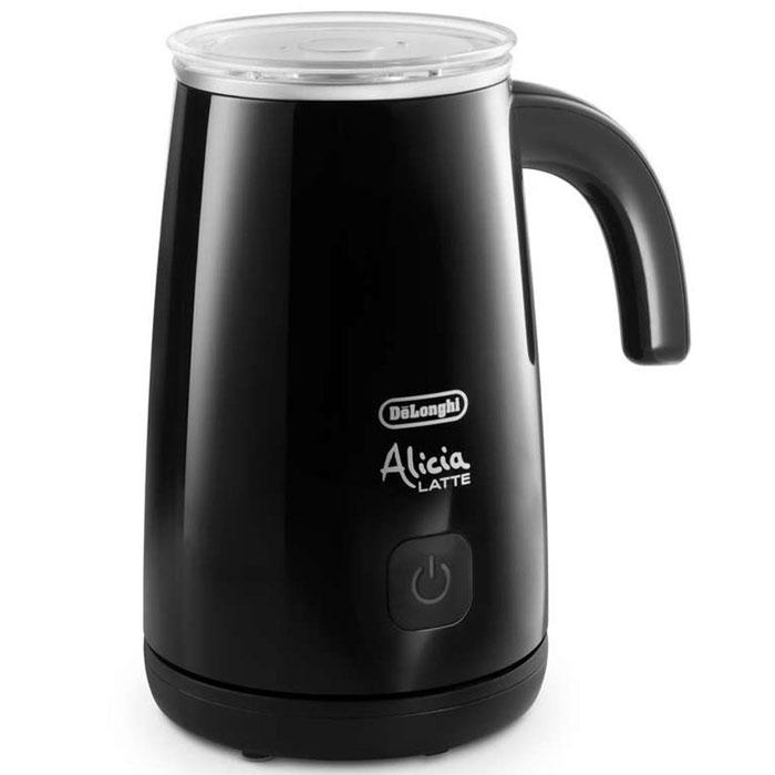 DeLonghi EMF2 Alicia, Black вспениватель молокаEMF2.BKНастольный электрический вспениватель молока DeLonghi EMF2 Alicia предназначен для приготовления пенки для капучино. Стильный глянцевый корпус и высокая производительность позволяют моментально приготовить совершенную молочную пену, горячую или холодную, а также подогреть молоко. Вместимость чаши для молока: мин. 100 мл, макс. 250 мл Корпус: глянцевое пластиковое покрытие, подставка: матовое пластиковое покрытие Автоматическое выключение Магнитный привод обеспечивает движение венчика Съемный венчик удобно мыть Съемная прозрачная крышка с силиконовым уплотнителем Подставка позволяет вращать прибор на 360° Антипригарное покрытие чаши Напряжение/Частота переменного тока :220/240 В - 50/60 Гц