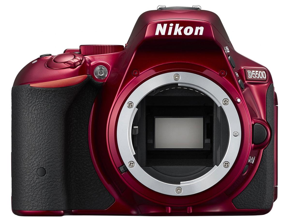 Nikon D5500 Body, Red цифровая зеркальная фотокамера