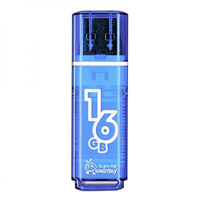 SmartBuy Glossy Series 16GB, Blue USB-накопитель